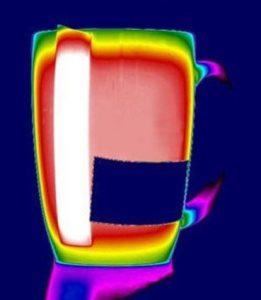 zależność pomiędzy kątem pomiaru a odczytem temperatury