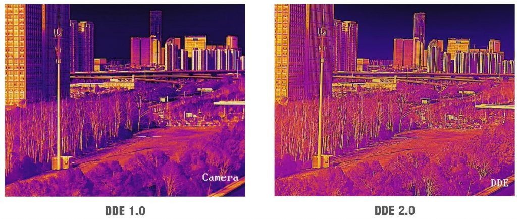 obraz kamery podczerwieni przy włączonym DDE