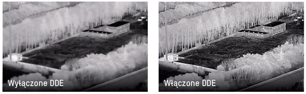 obraz kamery termowizyjnej przy wyłączonym DDE