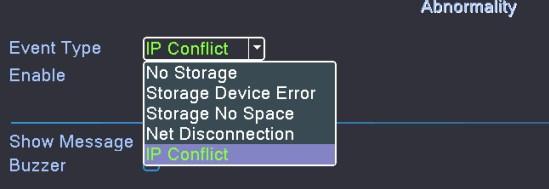 detekcja problemu w menu rejestratora